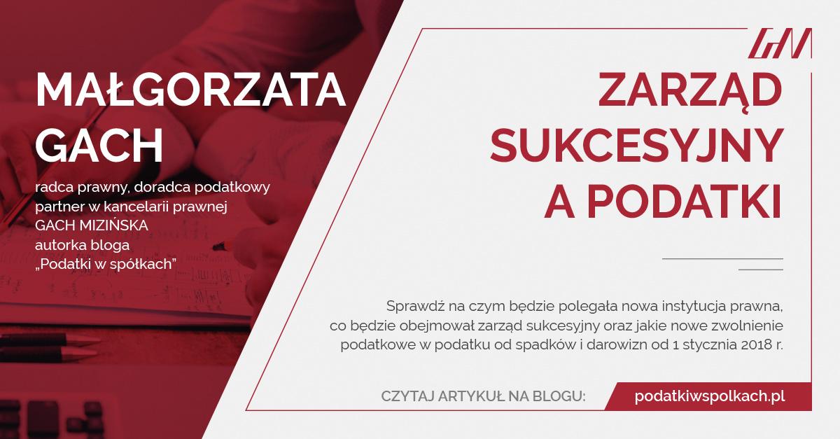 Post image for Zarząd sukcesyjny a podatki