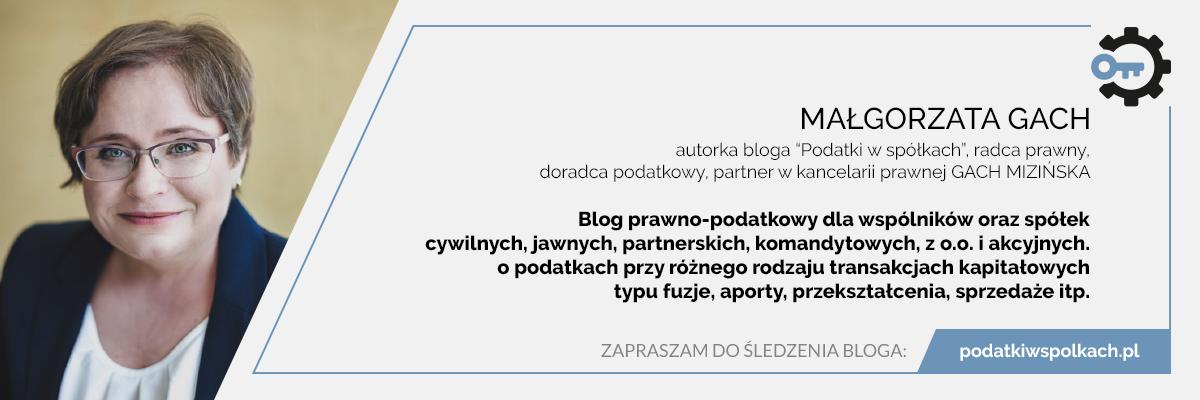 Małgorzata Gach o podatkach dla wspólników oraz spółek