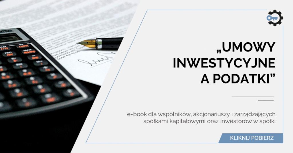 umowy inwestycyjne apodatki